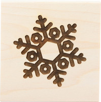 Wood Mount Stamps - Snowflake