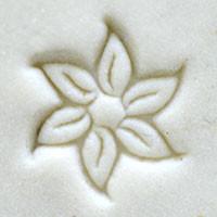 Star Flower Poinsettia Stamp