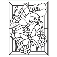 "Background Embossing Folder 4.25""X5.75"" - Mosaic Butterfly"
