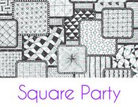 Square Party Silkscreen Stencil