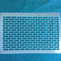 Mylar Bricks Stencil for polymer clay art jewelry and mixed media