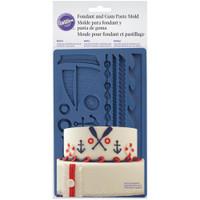 """Wilton Nautical Fondant & Gum Paste Silicone Mold 5""""X7.75"""""""