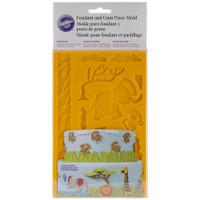 """Wilton Jungle Animals Fondant & Gum Paste Silicone Mold 5""""X7.75"""""""