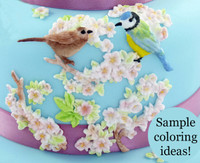 Beautiful Birds and Flowers Mold