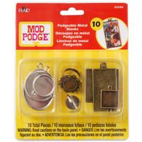 Mod Podge Podgeable Metal Pendant and Ring Blanks 10/Pkg