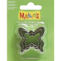 Makin's Clay 3 Piece Cutter Set Butterfly