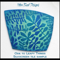 Helen Breil Silk Screens - Ode to Things Leafy