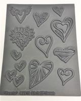 Christi Friesen Texture Stamp Heartz