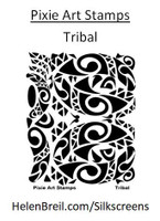 Mike Breil Silk Screen - Tribal