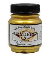 Jacquard Lumiere Metallic Acrylic Paint 2.25oz - Bright Gold