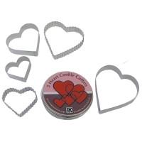 Cutters 5 Heart Tin Set