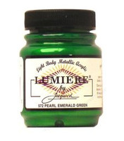 Jacquard Lumiere Metallic Acrylic Paint 2.25oz - Pearlescent Emerald