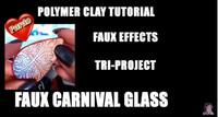 Faux Carnival Glass Tutorial by Kalyana Design