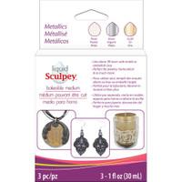 Sculpey Liquid Metallics 3/Pkg