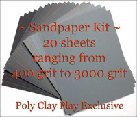 Poly Clay Play Sandpaper Kit
