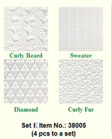 Makins Texture Sheets Set E 4 pkg.
