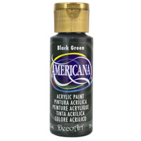 Americana Acrylic Paint 2oz - Black Green