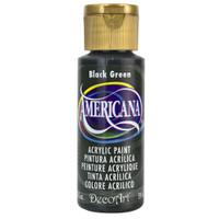 Americana Acrylic Paint 2oz - Black Green