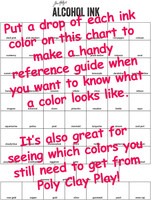 Alcohol Ink Tim Holtz Color Swatches and Chart