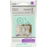"""Fleur - Iron Orchid Designs Vintage Art Decor Mould 2.5""""X3.5"""""""