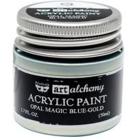 Finnabair Art Alchemy Acrylic Paint - Opal Magic Blue-Gold