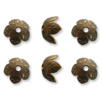 Vintaj Metal Bead Caps 6/Pkg