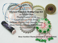 Poly Doodle Bottle Cap Kit - Flower Garden