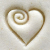 Heart with Single Swirl Stamp