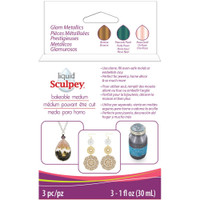 Sculpey Liquid Glam Metallics 3/Pkg