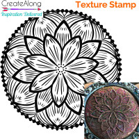 Deco Disc Lotus Flower stamp and texture pattern designs