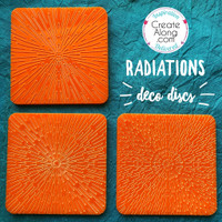 Deco Disc Radiations stamp and texture radial designs