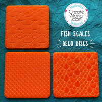 Deco Disc Fish Scales Stamp And Texture Pattern Designs