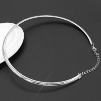 Wire Necklace/Choker - Gold or Silver