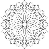 Stencil Daisy Doodad 6 x 6