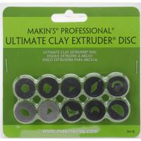 Makin's Professional Ultimate Clay Extruder Discs 10/Pkg Set B