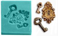 Mini Mold - Victorian Keys and Keyhole