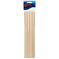 "Dowel Rods - Wood - 5/8"" x 12"" (4 pcs)"