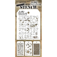 Tim Holtz Mini Layered Stencil Sets 3/pkg Set 3