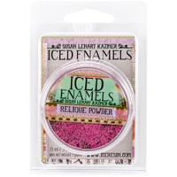 Iced Enamels Relique Powder Cold Enameling Raspberry