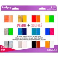 Sculpey Premo + Souffle Clay Multipack 1oz 24/Pkg