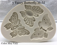 3 Fancy Butterfly Mold