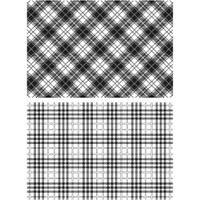 """Perfect Plaid - Tim Holtz Cling Stamps 7""""X8.5"""""""