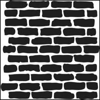 Stencil Bricks 6 x 6