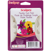 Sculpey Mold - Flowers and Leaves