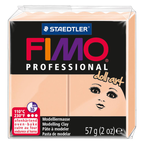 Fimo Professional Doll Art Polymer Clay - Opaque Cameo 2oz
