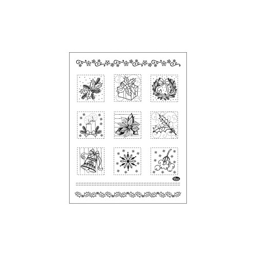 Christmas Patchwork Viva Decor Clear Stamp Set