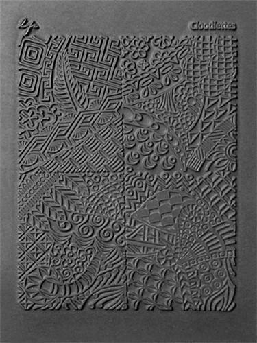 Slightly Blemshed Cloodettes Texture Stamp