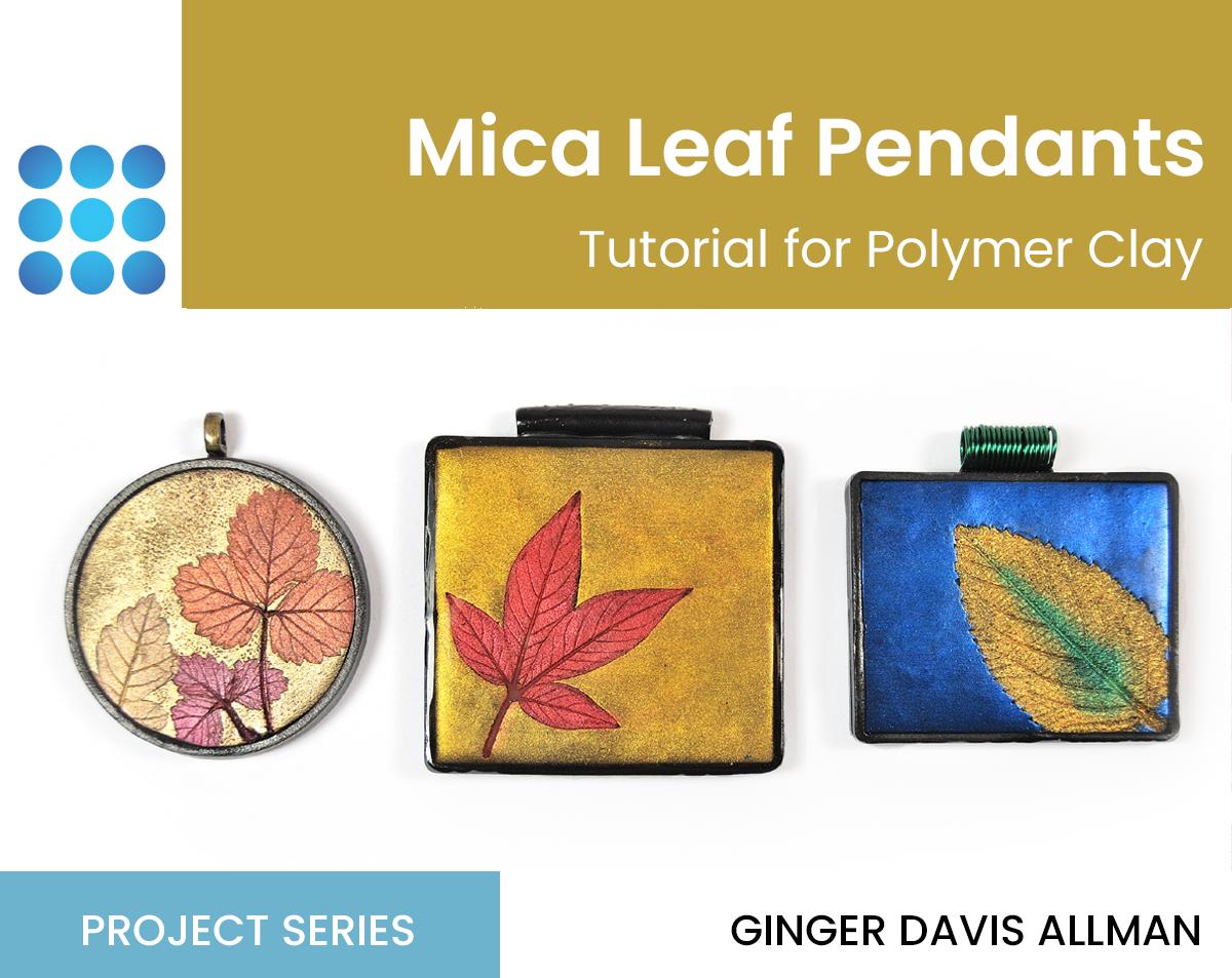Mica Leaf Pendants