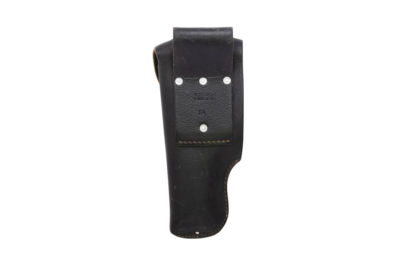 Swiss SIG Pistol Leather Holster - Right Hand - Black