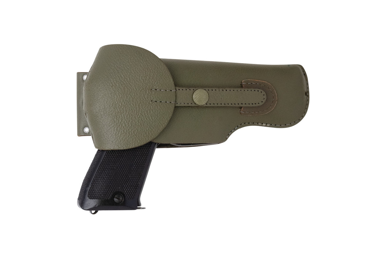 Swiss SIG Pistol Leather Holster - Right Hand - Green